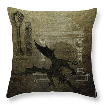 Panthera Draconis Temple Throw Pillow