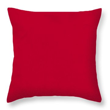 Pantone 186 Fire Engine Red Color On Worn Canvas Throw Pillow