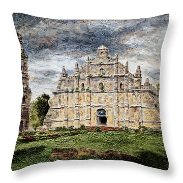 Paoay Church Throw Pillow