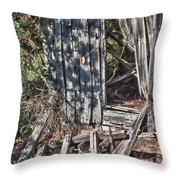 Papa Sandy's Storage Shed Throw Pillow
