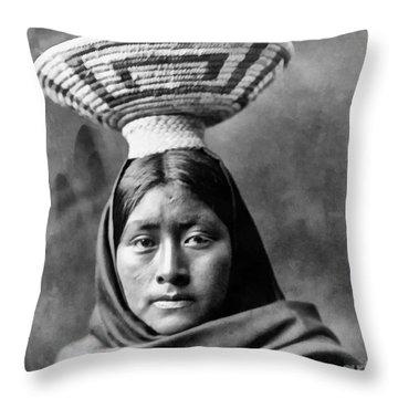 Papago Indian Luzi Throw Pillow