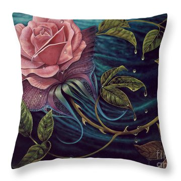 Papalotl Rosalis Throw Pillow