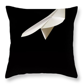 Paper Airplane Throw Pillow by Edward Fielding
