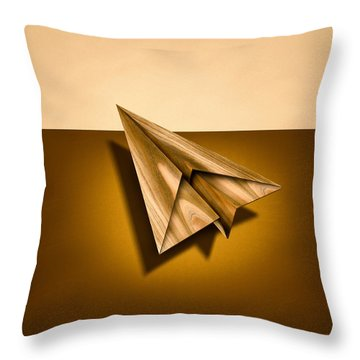 Paper Airplanes Of Wood 1 Throw Pillow