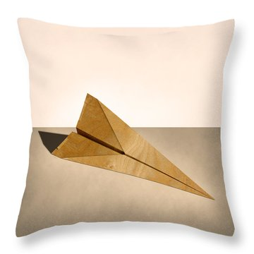 Paper Airplanes Of Wood 15 Throw Pillow