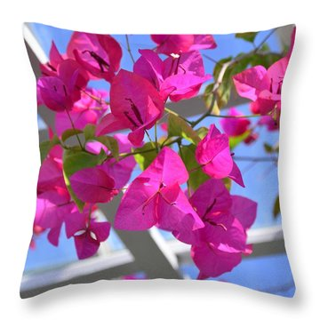 Paper Flowers Throw Pillow by Kathleen Struckle