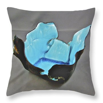 Throw Pillow featuring the sculpture Paper-thin Bowl  09-001 by Mario Perron