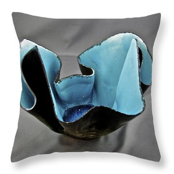 Throw Pillow featuring the sculpture Paper-thin Bowl  09-003 by Mario Perron