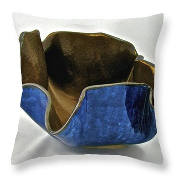 Throw Pillow featuring the sculpture Paper-thin Bowl  09-005 by Mario Perron