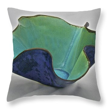 Throw Pillow featuring the sculpture Paper-thin Bowl  09-006 by Mario Perron