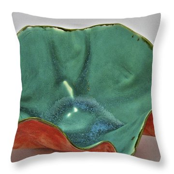 Throw Pillow featuring the sculpture Paper-thin Bowl  09-007 by Mario Perron