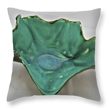 Throw Pillow featuring the sculpture Paper-thin Bowl  09-009 by Mario Perron