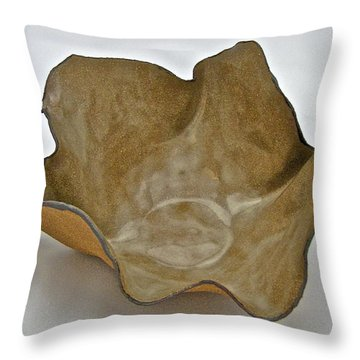 Throw Pillow featuring the sculpture Paper-thin Bowl  09-010 by Mario Perron