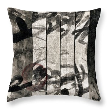 Paper Walls Throw Pillow