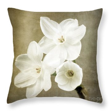 Paper Whites Throw Pillow