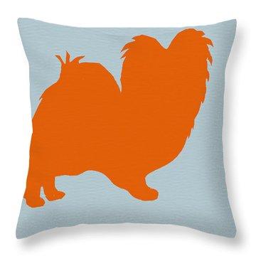 Papillion Orange Throw Pillow by Naxart Studio