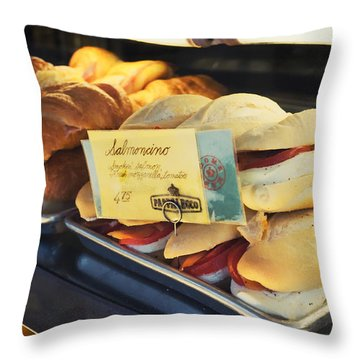 Pappalecco Salmoncino Throw Pillow by Tanya Harrison