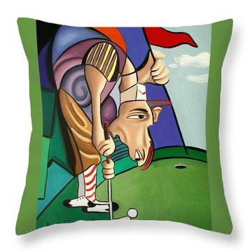 Par For The Course Throw Pillow by Anthony Falbo
