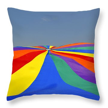 Parachute Of Many Colors Throw Pillow
