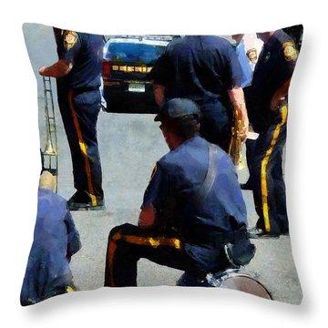 Parade Rest Throw Pillow by Susan Savad