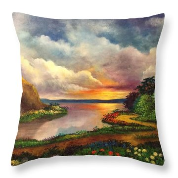 Paradise And Beyond Throw Pillow