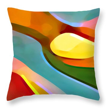 Paradise 5 Throw Pillow by Amy Vangsgard