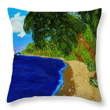 Paradise Throw Pillow by Celeste Manning