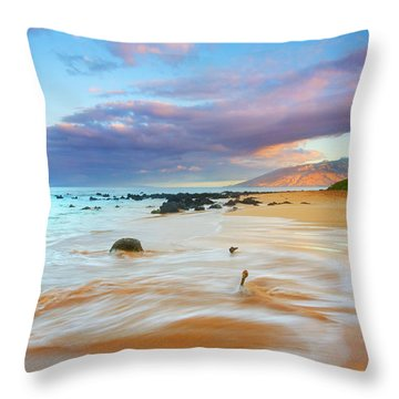 Paradise Dawn Throw Pillow by Mike  Dawson