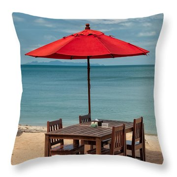 Paradise Dining Throw Pillow by Adrian Evans