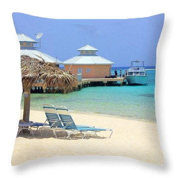 Paradise Docking Throw Pillow