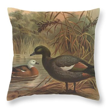 Paradise Duck Throw Pillow