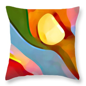 Paradise Found 4 Throw Pillow by Amy Vangsgard