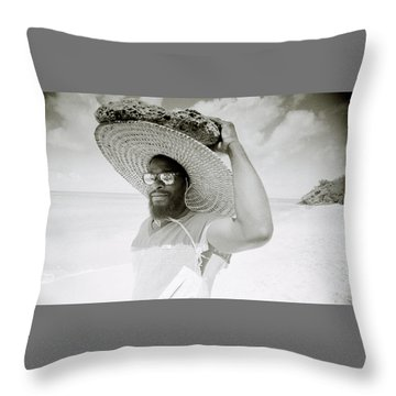 Paradise Island Throw Pillow by Shaun Higson