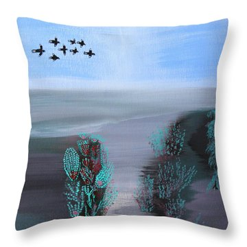 Paradise Throw Pillow by Lorna Maza