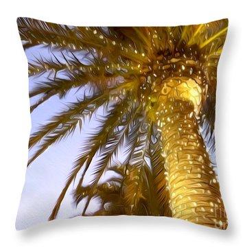 Paradise Palm Throw Pillow
