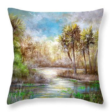Paradise Throw Pillow by Patrice Torrillo
