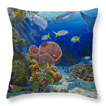 Paradise Re0012 Throw Pillow by Carey Chen