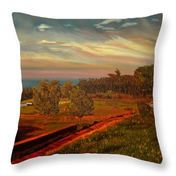 Paradise Road Throw Pillow