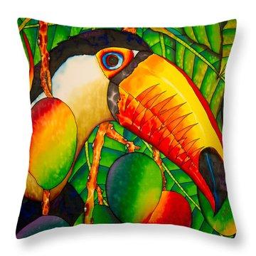 Paradise Toucan Throw Pillow