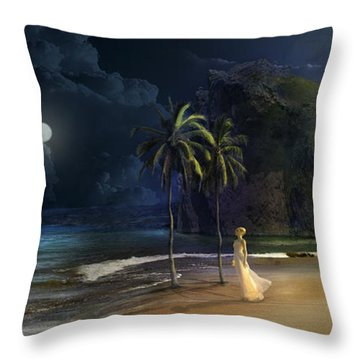 Paradise Throw Pillow by Virginia Palomeque