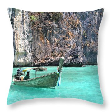 Paradise Water Holiday Throw Pillow