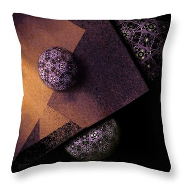 Throw Pillow featuring the digital art Paragon by Susan Maxwell Schmidt