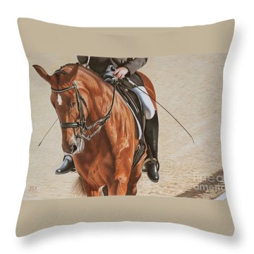Paralympian Gold Throw Pillow by Jill Parry