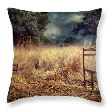 Paralyzed Throw Pillow by Taylan Apukovska