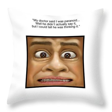 Paranoia Throw Pillow
