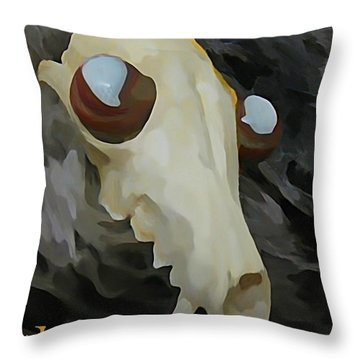Paranoid Throw Pillow by John Malone