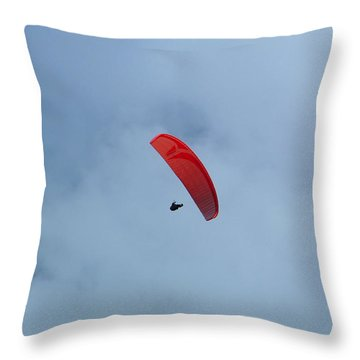 Throw Pillow featuring the photograph Parapente by Marc Philippe Joly