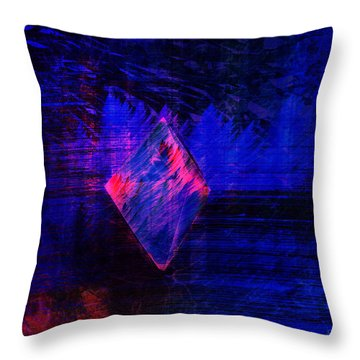 Throw Pillow featuring the digital art Parched Rainforest by Kylie Sabra