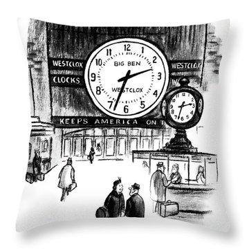 Pardon Me, Do You Have The Time? Throw Pillow