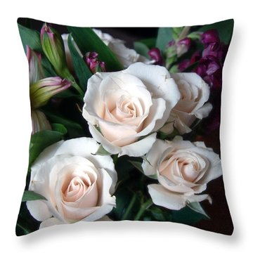 Throw Pillow featuring the photograph Pardon My Blush by RC deWinter